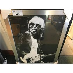 FRAMED PRINT - TOM PETTY  (27 X 37)