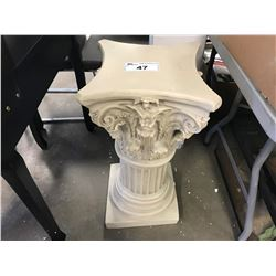ORNATE CARVED CERAMIC PEDESTAL