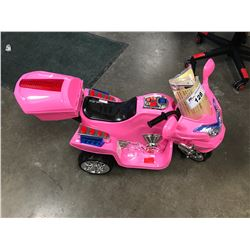 CHILDS RECHARGEABLE BATTERY POWERED TRIKE