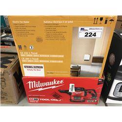 STIEBEL ELTRON 1500W ELECTRIC FAN HEATER & MILWUAKEE M18 COMPACT VAC