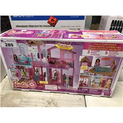 BARBIE FULLY FURNISHED DOLL HOUSE
