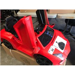 NEW FERRARI STYLE BATTERY POWERED RIDEON CAR WITH MP3 & REMOTE (IN BOX)