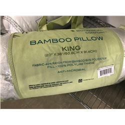 BOTANICAL COMFORT KING BAMBOO PILLOW