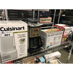 CUISINART ICE CREAM MAKER, CUISINART COFFEE MAKER, BLACK & DECKER 4 QUART STEAMER/RICE COOKER,