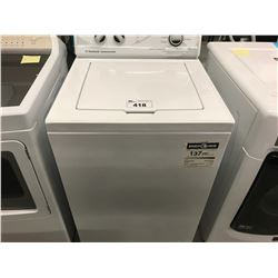 NEW WHITE HUEBSCH COMMERCIAL WASHER MODEL ZWN4+ SERIES (COSMETIC DAMAGE)