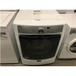 NEW WHITE MAYTAG DRYER MODEL YMED8200FW0 (COSMETIC DAMAGE)