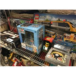 NERF RIVAL COMBAT GUN, SUPER TRANSPORTER TRUCKS, TALKING ATM BANK, LEGO CITY 60197 SET, THE