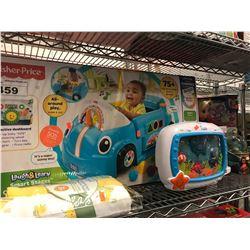 FISHERPRICE LAUGH & LEARN SMART STAGES CRAWL AROUND CAR, BABY EINSTEIN TOY, DISNEY MOANA GLOBE,