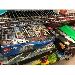 LEGO NINJAGA FIRST BOURNE SET, LEGO EXTREME ADVENTURE SET, LEGO CITY POLICE STATION SET, LEGO