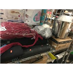 STAINLESS STEEL BUCKET, BATH ROBES, SNOW PANTS, HEAVY DUTY MATS, AUTOMOTIVE FLOOR MATS, CAP 20LB