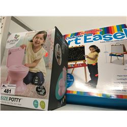 DELUXE ART EASLE & SUMMER INFANT MY SIZE POTTY