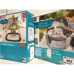 FISHERPRICE ON-THE-GO BABY DOME & FISHERPRICE SPACE SAVER JUMPEROO