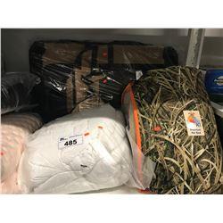 LARGE TRAVEL PET CARRIER, COZY PET PREMIUM BED, WHITE COMFORTER