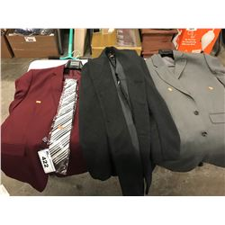 3 ASSORTED SUITS