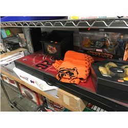 NFL MONSTER TRUCK, CORNHOLE TOSS, KC BOX, MARVEL GHOST RIDER TOY, FOOTBALL SWEATER, CHICAGO BEARS