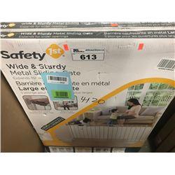 2 SAFETY 1ST WIDE & STURDY METAL SLIDING GATES