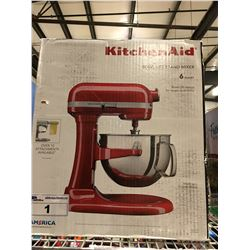 KITCHENAID BOWL LIFT STAND MIXER 6 QUART - RED