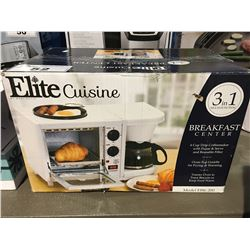 ELITE CUISINE 3 IN 1 MULTI FUNCTION BREAKFAST CENTRE - COFFEE MAKER / TOASTER OVEN