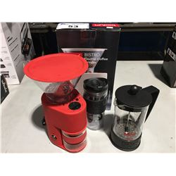 GROUP OF 3 BODUM ITEMS - ELECTRIC COFFEE GRINDER & 2 FRENCH PRESSES