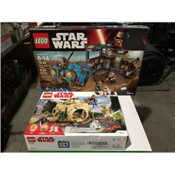 2 LEGO STAR WARS SETS ENCOUNTER ON JAKKU & YODAS HUT