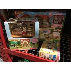 GROUP OF 4 CALICO CRITTERS PLAY SETS