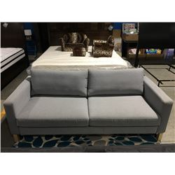 LIGHT GREY UPHOLSTERED CONTEMPORARY SOFA