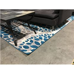 NEWPORT COLLECTION BLUE AREA RUG 7'X10'