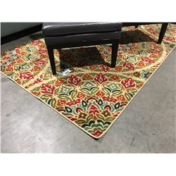 CONTEMPORARY MULTI COLOURED AREA RUG APPROX 5 1/2' X 8 1/2'