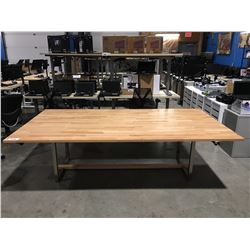 "LARGE BOARDROOM/CONFERENCE TABLE 51""X98"""