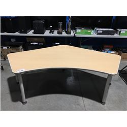 BOOMERANG SHAPED OFFICE TABLE