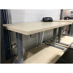 "AOKE POWER LIFT STANDING DESK 29 1/2""X59"" (DETACHED MOTOR MECHANISM, DAMAGED TOP)"