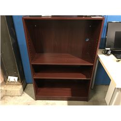 4' CHERRY FINISHED OFFICE SHELF UNIT