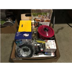 ONE BOX OF ASSORTED  KITCHEN WARES