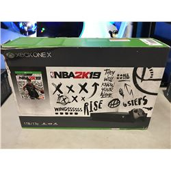 X-BOX ONE X  NBA2K19 GAME CONSOLE SET