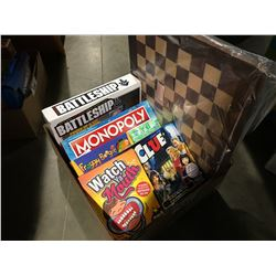 BOX OF ASSORTED BOARD GAMES