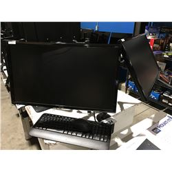 """BENQ 24"""" DUAL MONITOR WITH MOUNT & MICROSOFT WIRELESS KEYBOARD & MOUSE"""
