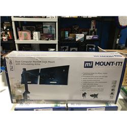MOUNT - IT DUAL COMPUTER MONITOR DESK MOUNT