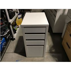 WHITE 4 DRAWER SMALL OFFICE CABINET