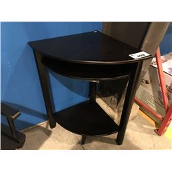 DARK FINISH WOOD CORNER TABLE