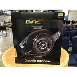 AUDIO TECHNICA SOLID BASS PORTABLE HEADPHONES