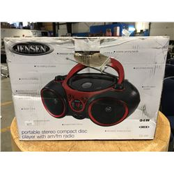 JENSEN PORTABLE STEREO COMPACT DISC PLAYER