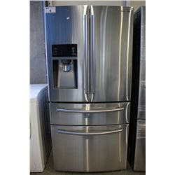 STAINLESS STEEL SAMSUNG TWO DOOR REFRIGERATOR WITH BOTTOM FREEZER AND WATER/ICE
