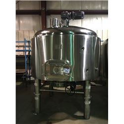 2017 DAEYOO 25BBL STAINLESS STEEL MASH LAUTER TUN, MASH TANK WITH AGITATOR MOTOR & PADDLE