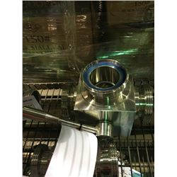 """STAINLESS STEEL 3 1/4"""" 3-WAY VALVE BREWERY SYSTEM PART"""