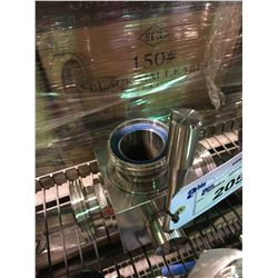 """STAINLESS STEEL 3"""" 3-WAY VALVE BREWERY SYSTEM PART"""