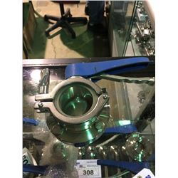 """2 STAINLESS STEEL 2"""" BREWERY SYSTEM VALVES & CLAMPS"""
