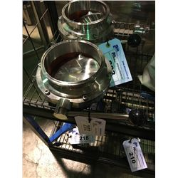 """STAINLESS STEEL 5 3/4"""" VALVE BREWERY SYSTEM PART"""