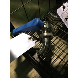STAINLESS STEEL L- PIPE WITH VALVE BREWERY SYSTEM PARTS