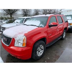 2007 GMC YUKON, 4DR SUV, RED, VIN # 1GKEK130X7J129339