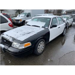 2011 FORD CROWN VICTORIA FLEX FUEL, 4DR SEDAN, WHITE, VIN # 2FABP7BV2BX134699